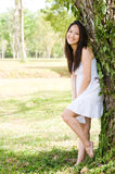 Beautiful asian girl in the park Stock Photos