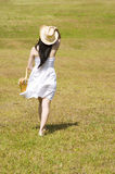 Beautiful asian girl in the park Royalty Free Stock Image