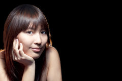 Beautiful Asian girl with perfect skin Stock Photography