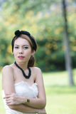 Beautiful asian girl portrait. A beautiful asian girl portrait in park Stock Image