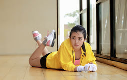 Beautiful asian girl resting and relaxing Royalty Free Stock Photos