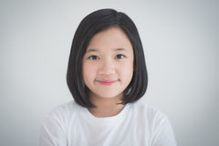 Beautiful Asian girl smiling Royalty Free Stock Photography