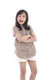 Beautiful asian girl standing on white background Royalty Free Stock Images