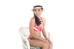 Beautiful Asian girl with swim suit Stock Photo