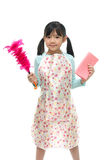 Beautiful asian girl wearing apron Royalty Free Stock Image