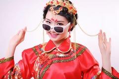 Fashion Chinese style —— Chinese wedding dress royalty free stock photo