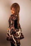 Beautiful Asian girl. Wearing a dress stock photo