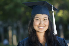 Beautiful Asian Graduate Royalty Free Stock Photography