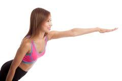 Beautiful Asian healthy girl do yoga pose Royalty Free Stock Photos