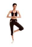 Beautiful Asian healthy girl do yoga pose Stock Photography