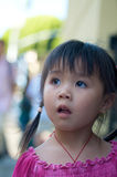Beautiful Asian kid in Chinatown Stock Photo