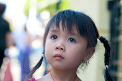 Beautiful Asian kid in Chinatown Royalty Free Stock Photos