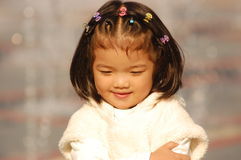 Beautiful Asian little girl Royalty Free Stock Images