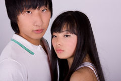 Beautiful asian loving couple Royalty Free Stock Photography