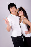 Beautiful asian loving couple Stock Photography