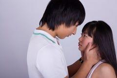 Beautiful asian loving couple Stock Photo