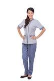 Beautiful Asian maid in uniform Stock Photography