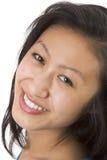 Beautiful Asian Model Big Smile. Head shot of a beautiful Asian-American model royalty free stock images