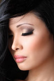 Beautiful Asian model Close-up Royalty Free Stock Image