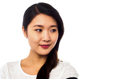Beautiful asian model looking away Royalty Free Stock Photography