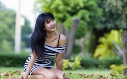 Beautiful Asian model royalty free stock images