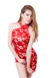 Beautiful Asian model wearing traditional  Cheongsam Royalty Free Stock Image
