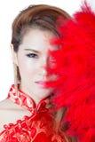 Beautiful Asian model wearing traditional  Cheongsam Stock Photo