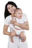 Beautiful asian mother and her baby Stock Image