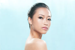Beautiful asian not smiling Royalty Free Stock Photo