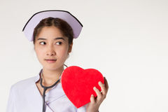 Beautiful asian nurse Stock Photo