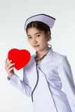 Beautiful asian nurse Stock Photos