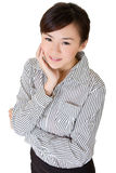 Beautiful Asian office lady stock images