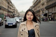 Beautiful asian in paris Royalty Free Stock Image