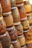 Handmad asian pottery as flower pot Royalty Free Stock Photos