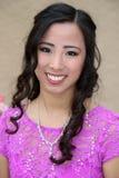 Beautiful asian school age girl Royalty Free Stock Photos