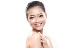 Beautiful Asian Smiling Female Stock Images