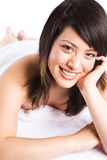 Beautiful asian spa girl Stock Images