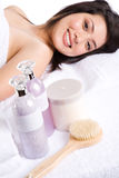 Beautiful asian spa girl Royalty Free Stock Image