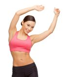 Beautiful asian sporty woman doing exercise Stock Photography