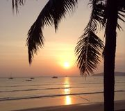 Beautiful Asian Sunset stock image