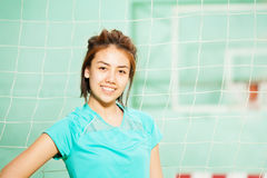 Beautiful Asian teenage girl in sportswear Stock Photography