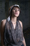 Beautiful asian woman. A beautiful asian woman portrait Stock Image