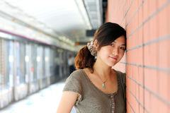 A beautiful asian woman Stock Photography