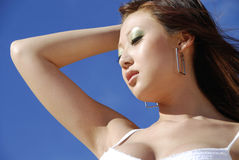 Beautiful Asian woman Stock Images