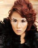 Beautiful Asian Woman. Portrait Posing glamourous stylish Royalty Free Stock Photography