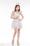 Beautiful Asian Woman in Angel Costume Royalty Free Stock Photo