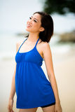 Beautiful asian woman at the beach Stock Photography