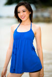 Beautiful asian woman at the beach Stock Photo