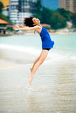Beautiful asian woman at the beach Stock Image