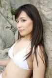 Beautiful Asian woman in a bikini Stock Photography